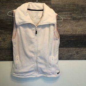 Calvin Klein pale pink zip up vest